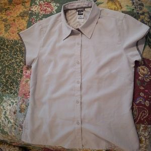 North Face womens button up